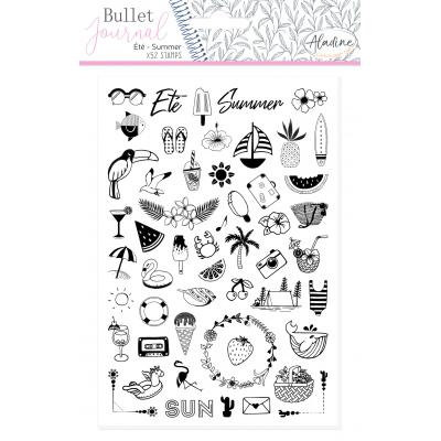 Aladine Bullet Journal Foam Stamps - Summer