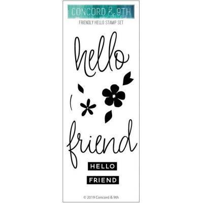 Concord & 9th Clear Stamps - Friendly Hello