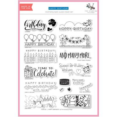 Lawn Fawn Stamping Village Clear Stamps - Happy Birthday