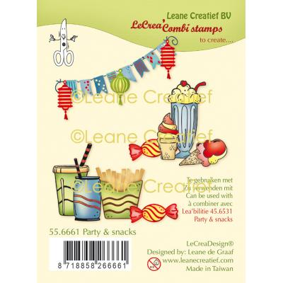 Leane Creatief Clear Stamps - Party & Snacks