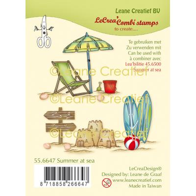 Leane Creatief Clear Stamps - Summer at Sea