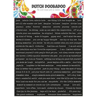 Dutch Doobadoo Dutch Sticker Art - Quotes