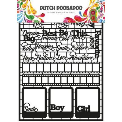 Dutch Doobadoo Dutch Paper Art - Texte