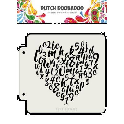 Dutch Doobadoo Mask Stencil - Alphabet Herz
