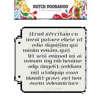 Dutch Doobadoo Mask Art Stencil - Script