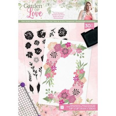 Crafter's Companion Garden of Love Clear Stamps - Floral Bouquet
