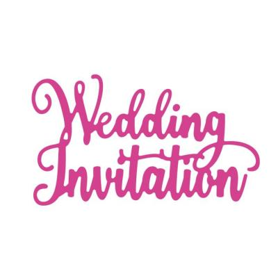 Crafter's Companion Dies Garden of Love - Wedding Invitation
