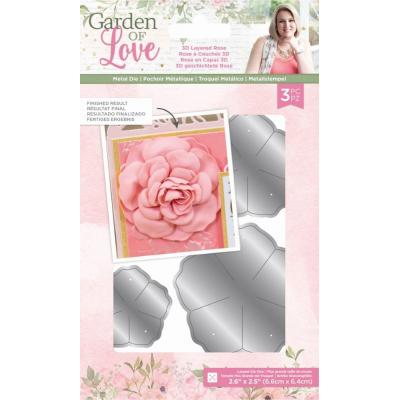 Crafter's Companion Dies Garden of Love - 3D Layered Rose