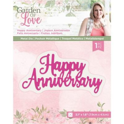 Crafter's Companion Dies Garden of Love - Happy Anniversary