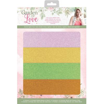 Crafter's Companion Garden of Love -  Luxury Glitter Card