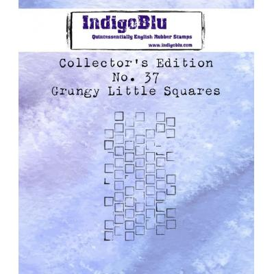 IndigoBlu Rubber Stamp - Grungy Little Squares