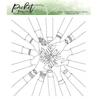 Picket Fence Studios Clear Stamps - BFF My Tribe