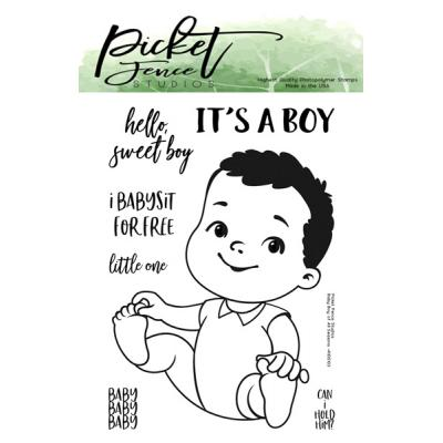 Picket Fence Studios Clear Stamps -  Baby Boy of All Seasons