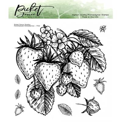 Picket Fence Studios Clear Stamps - Ponchatoula Strawberries