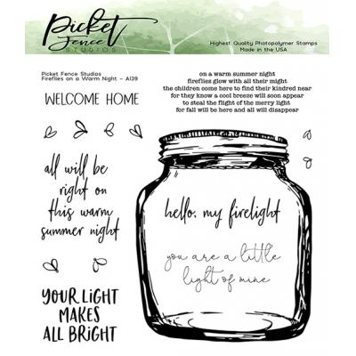 Picket Fence Studios Clear Stamps - Fireflies on a Warm Night