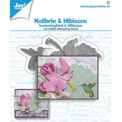 Joy!Crafts Stanzschablonen - Kolibri & Blume