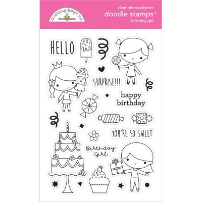Hey Cupcake Clear Stamps - Birthday Girl