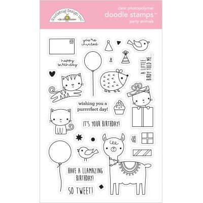 Hey Cupcake Clear Stamps- Party Animals