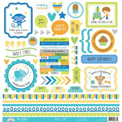 Doodlebug Party Time - This & That Cardstock Sticker