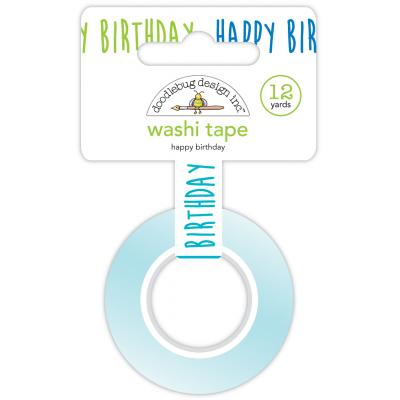 Doodlebug Party Time Washi Tape -  Happy Birthday