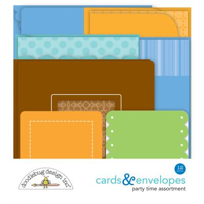Doodlebug Party Time - Cards & Envelopes