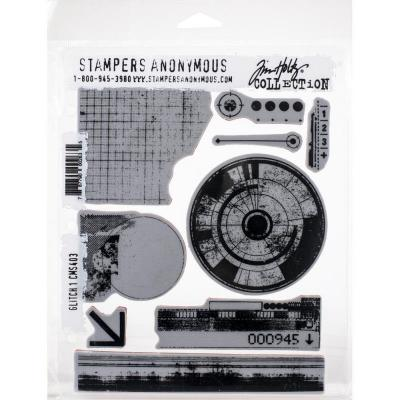 Stampers Anonymous Tim Holtz Cling Stamps - Glitch 1