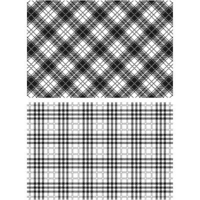 Stampers Anonymous Tim Holtz Cling Stamps - Perfect Plaid