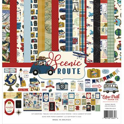Echo Park Scenic Route Designpapier - Collection Kit