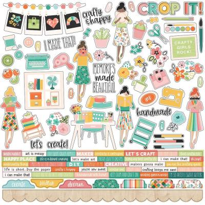 Simple Stories Hey, Crafty Girl - Cardstock Stickers