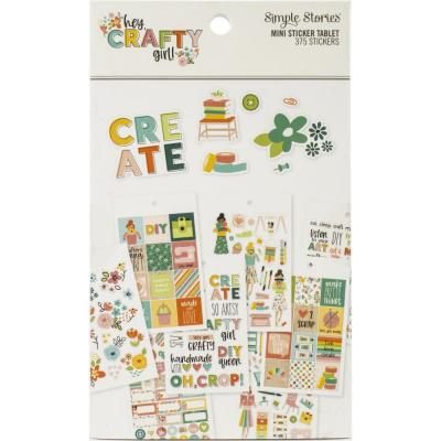 Simple Stories Hey, Crafty Girl - Mini Sticker Tablet