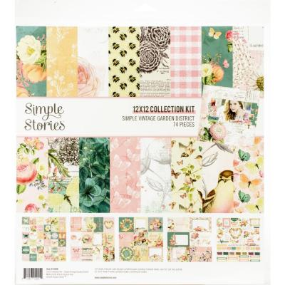 Simple Stories Vintage Garden District Designpapier - Collection Kit