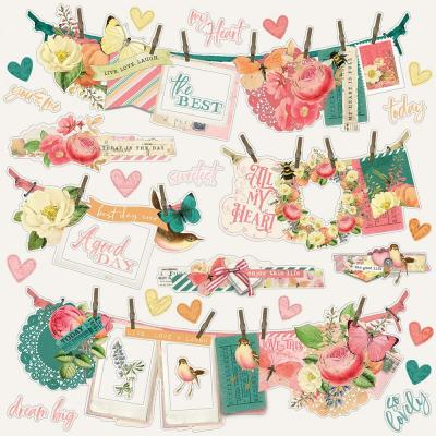 Simple Stories Vintage Garden District - Cardstock Stickers Banners