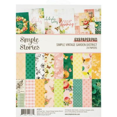 Simple Stories Vintage Garden District Designpapier - Paper Pad