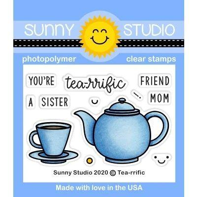 Sunny Studio Clear Stamps - Tea-riffic