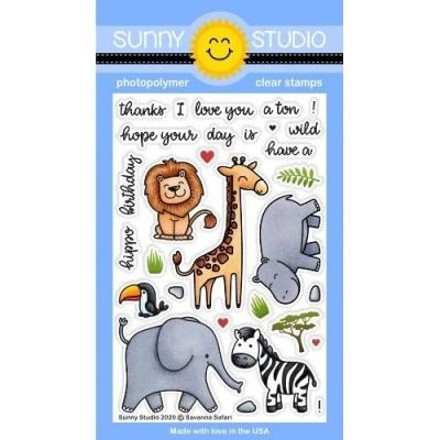 Sunny Studio Clear Stamps - Savanna Safari