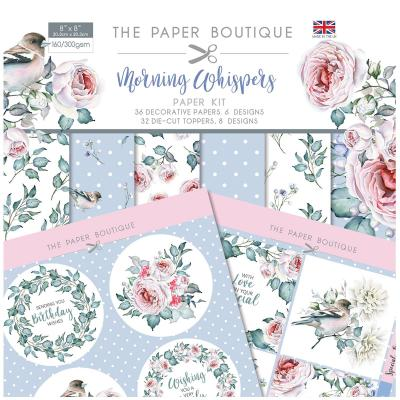 The Paper Boutique Morning Whispers  Designpapier - Paper Kit
