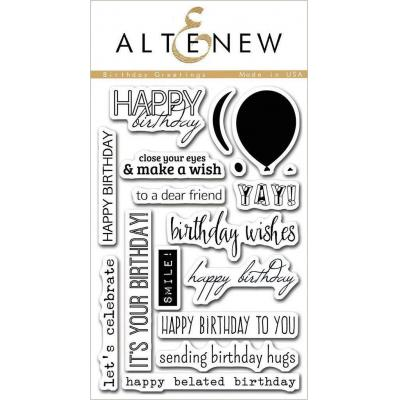 Altenew Clear Stamps - Birthday Greetings