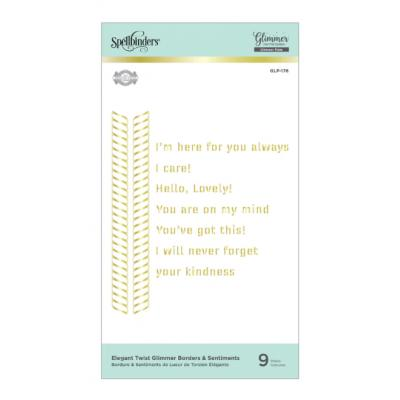 Spellbinders Hot Foil Plates - Borders & Sentiments Glimmer