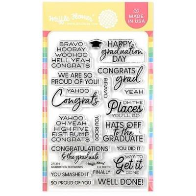 Waffle Flower Crafts Clear Stamps - Graduation Sentiments