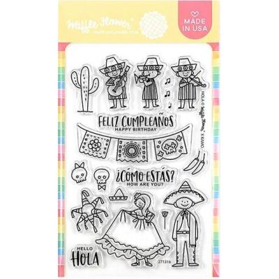 Waffle Flower Crafts Clear Stamps - Hola Mexico