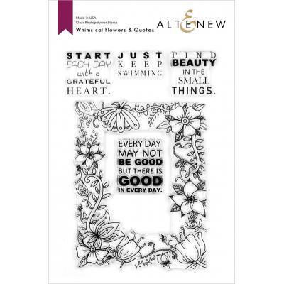 Altenew Clear Stamps - Whimsical Flowers & Quotes