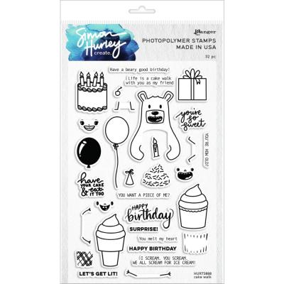 Simon Hurley Create Cling Stamps - Cake Walk
