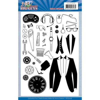 Find It Trading Clear Stamps - Big Guys Workers