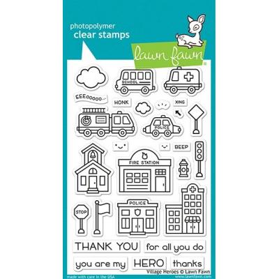 Lawn Fawn Clear Stamps - Village Heroes