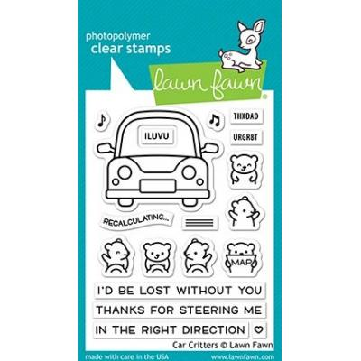 Lawn Fawn Clear Stamps - Car Critters