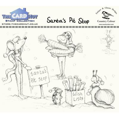 The Card Hut Clear Stamps - Santa's Pit Stop