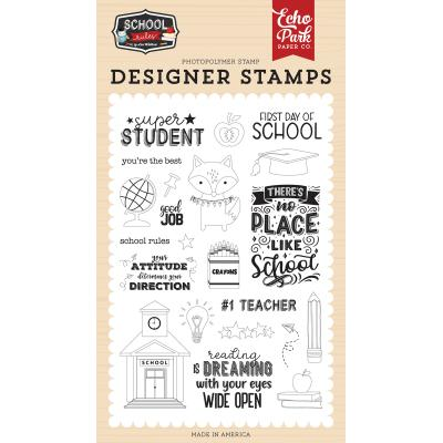 Echo Park School Rules Clear Stamps - Super Student