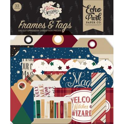 Echo Park Witches & Wizards Die Cuts - Frames & Tags