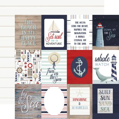Carta Bella By The Sea Designpapier - 3 x 4 Journaling Cards