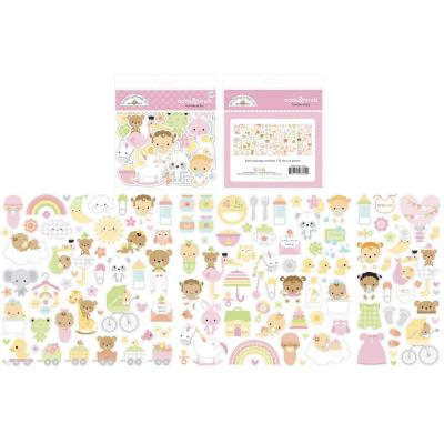 Doodlebug Baby Girl Die Cuts - Odds & Ends